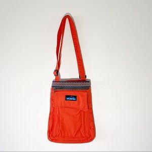 Kavu Bright Orange Cotton Canvas Crossbody Bag